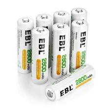 EBL 8 Pack High Capacity 2800mAh AA Ni-MH Rechargeable Batteries, Battery Cas...