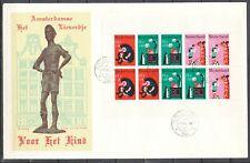 BLOK KINDERZEGELS 1967 FDC (Lieverdje) ROTTERDAM.31.-7.XI.1967              103J