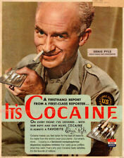 Framed Print - War Correspondent Ad for Cocaine Poster (Picture Drugs Weed Art)