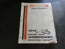 Hesston 1014 Center Pivot Windrower Operator's Manual