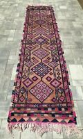 "Turkish Wool Runner, Vintage Hand Knotted Soft Pile 11'9""x 2'8"", FREE SHIPPING!"