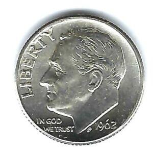 1962-D Denver Brilliant Uncirculated Business Strike Roosevelt Silver Dime!