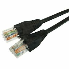 40m Black External Outdoor Network Ethernet Cable Cat6 100% Copper RJ45