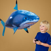 Remote Control Flying Fish RC Plastic Inflatable Blimp Animal Balloon kids Toys
