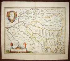 carte geographique ancienne originale LE BEARN par Jansson 1640