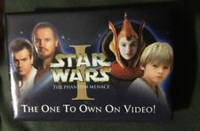 Star Wars Episode I : The Phantom Menace On Video Store Promo Pin / Button RARE