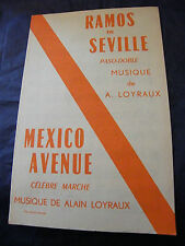 Partition Ramos Seville Loyraux Mexico Avenue 1961 Music Sheet