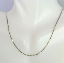 2.39g Womens Pretty 14 Karat White Gold Box Chain Necklace 14KT Real Solid Gold