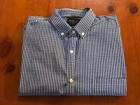 Industrie Men's Classic Fit Checked Shirt, blue size (INT) M, (US) 40 (EU) 50.