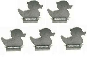 """AR500 Rubber Ducky Duck Silhouette Steel Knock-Over Target 3/8"""" Set of 5"""