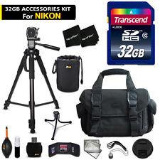 32GB ACCESSORIES Kit for Nikon D5500, D5300, D5200, D3300, D3200, D3100