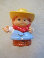 Fisher Price Little People FARMER JED Light Blue Version w/ Outstretched Arm