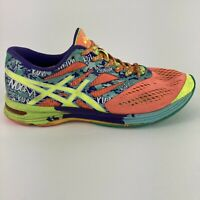 Asics Gel Noosa Womens Size 9 Coral Blue Running Training Low Fit Athletic Shoes