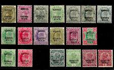 CHAMBA STATE SERVICE 1887-1937 QVI-KEVII-KGV  MINT