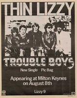 Thin Lizzy '45 advert 1981