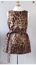Dolce Gabbana Con Cinturón Vestido Túnica/& Seda Raro Talla 12 D & G