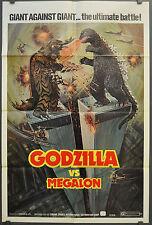 GODZILLA VS MEGALON 1976 1ST RELEASE ORIG MOVIE POSTER 27X41 KATSUHIKO SASAKI