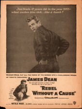 Rebel Without A Cause 1955 Original Movie Magazine ad starting James Dean