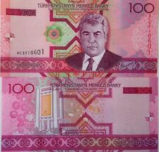 TURKMENISTAN 2005 100 MANAT P-18 UNCIRCULATED BANKNOTE COLORFUL FROM USA SELLER