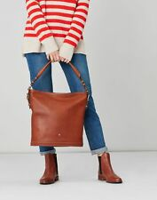 Joules Womens Chesham Leather Bucket Bag - Tan - One Size