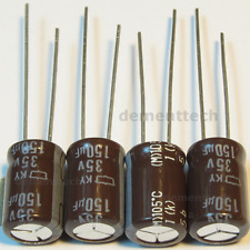4x Nippon KY 150uF 35v Low-ESR radial capacitors Long Life 105C 8mm 8x11.5