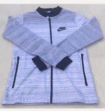 278fbacc8c3b87 Nike Mens Sportswear Advance 15 Jacket White Heather Black (XS)