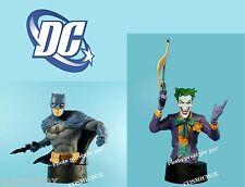 Lot 2 Bustes résine BATMAN & le JOKER figurine DC Comics film dark knight arkham