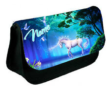 White Unicorn / Rainbow /  Personalised Pencil Case / Makeup Bag great gift