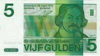 Netherlands, 1973 5 Gulden P-95a  ((Unc))