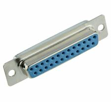 2 x 25-Way D Sub Connector Female Socket Solder Lug