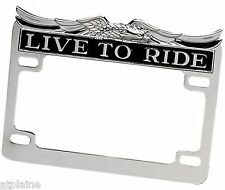 ENTOURAGE DE PLAQUE D'IMMATRICULATION LIVE TO RIDE POUR HARLEY ET CUSTOMS