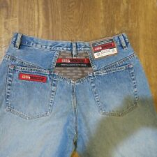 """Mecca """"From The Cradle to The Grave"""" Men's Blue Jeans Size 34x29 faded Denim"""