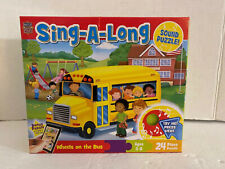 Wheels On The bus Sing-A-Long 24pc Jigsaw Sound Floor Puzzle By Master Pieces