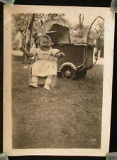 "SNAPSHOT - PHOTO ANCIENNE "" VIEUX LANDAU - ENFANT "" / VERS ANNEES 40"