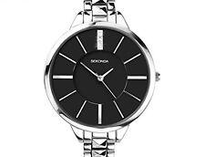 Sekonda Ladies Watch con bracciale in argento e quadrante nero numero di modello 2035