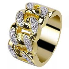 Men's Vintage 18K Gold White gemstone Engagement Jewelry Ring Size 9