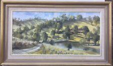 Alan Sartori 1988 Victorian Hillside Framed Painting