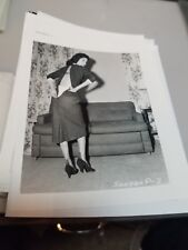 4 X 5 ORIGINAL NEGATIVE PHOTO FROM IRVING KLAW ARCHIVES OF MODEL SANDRA P #2