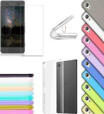 cover custodia per SONY XPERIA XA silicone sottile vari colori + pellicola vetro