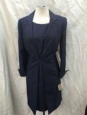 """Kasper Dress And Jacket Suit /NEW WITH TAG/SIZE 16/LINED/RETAIL$240/LENGTH 41"""""""