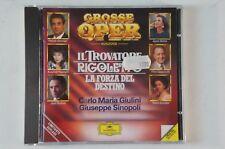 Grosse Oper Auszüge Il Trovatore Rigoletto La forza del Destino DG 427032-2 CD23