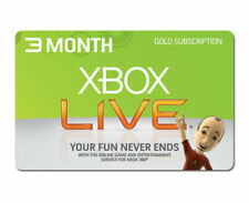 XBox Live 3 Month Gold Membership Xbox One 360 Fast Despatch (Global)