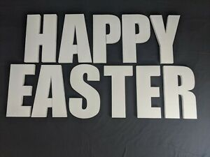 HAPPY EASTER Polystyrene Decorative Letters - 380mm high - 25mm thick