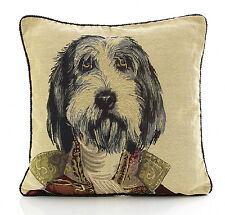 """Dog Tapestry Cushion Cover MAJOR 18x18"""" (45x45cm)"""