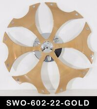 22 Inch Gold Spinners Wheels Rims Fit Any Car Free S/H