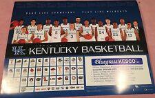 2013-14 KY University of Kentucky Wildcats Basketball Schedule/Poster Kesco