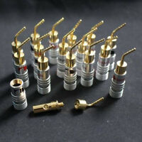 8Pair 4MM Nakamichi Banana Plug Speaker 24K Gold Plated Audio Jack Pin Connector