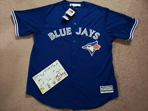 NWT Toronto Blue Jays Majestic Blank Cool Base Men Jersey XL X-Large