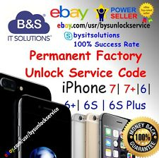 FACTORY UNLOCK CODE SERVICE IMEI AT&T IPHONE 7 Plus 6 6+ 6S 5 4 SE ATT Fast1-24h