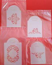 4 piece Filigree wedding cake tier stencil NEW